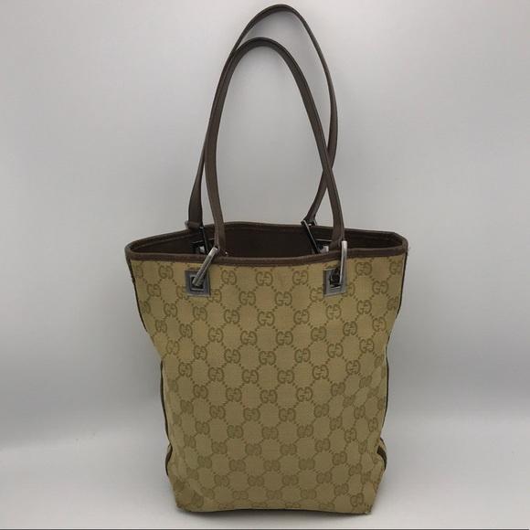 64b594564 Gucci Handbags - Authentic Gucci GG Monogram Canvas Small Tote Bag